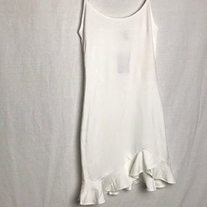 Forever 21 White Fitted Frill End Dress